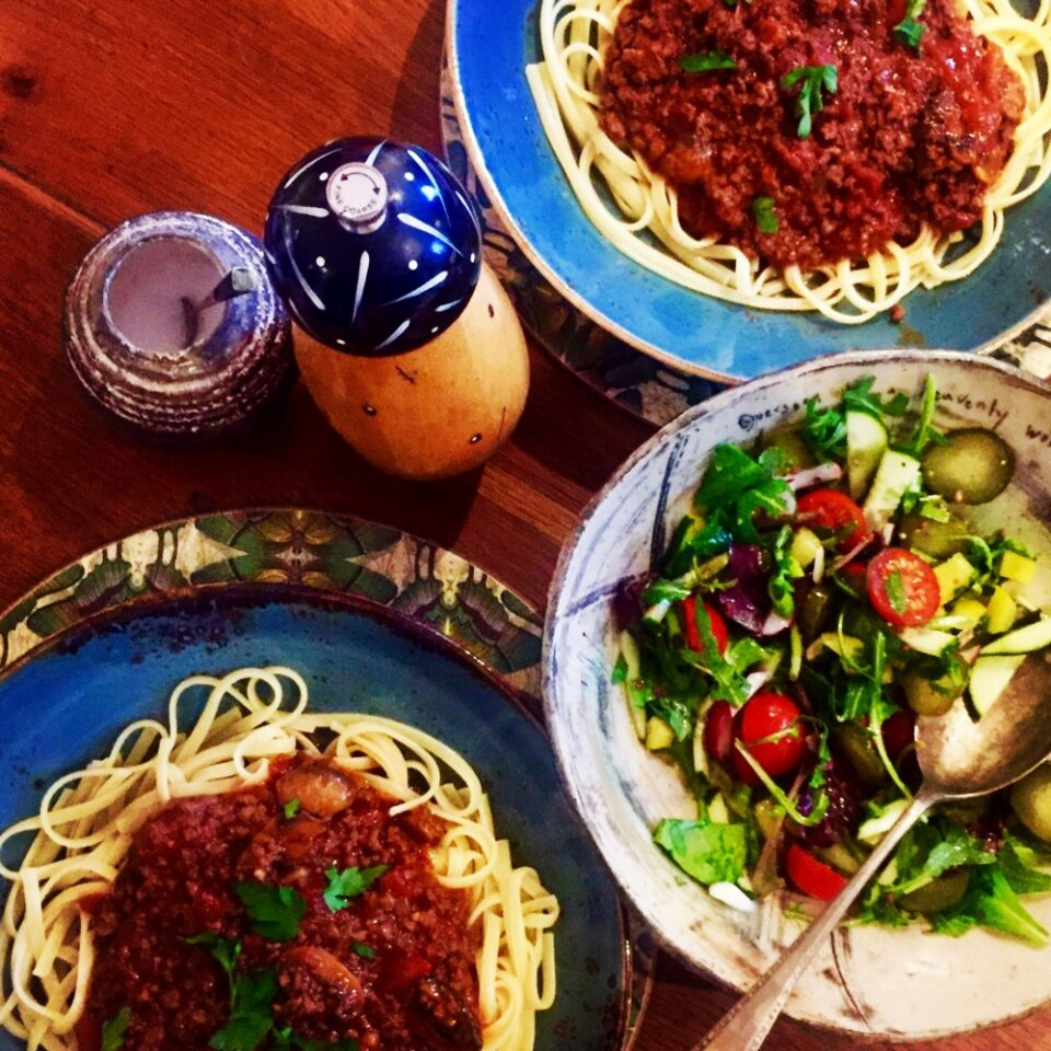 Beef & Basil Ragu with Linguine